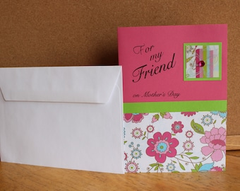 Mothers Day Card for Friend - Best Friend Mothers Day Card - Handmade