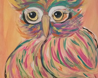 "Owl Painting ""Charisse"""