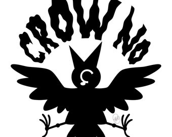 Crow No! Prints