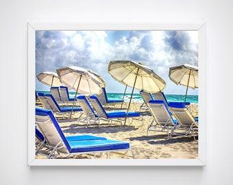 Miami Wall Art Beach Prints Beach Decor Beach Photography Coastal Wall Art Cottage Decor Beach Lovers Gift Beach House Art Beach Art