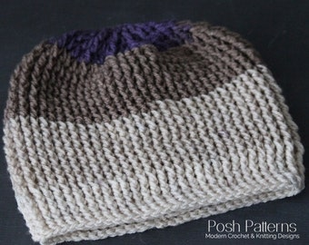 Crochet Pattern - Crochet Pattern Hat - Crochet Slouchy Hat Pattern - Easy Crochet Pattern - Slouchy Beanie - Includes 5 sizes - PDF  440