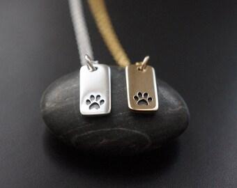 Pet Gift,Paw Print Necklace,Pet Memorial Necklace,Paw Print Jewelry,Pet Initial Necklace,Dog Paw Necklace,Cat Paw Necklace,Pet Necklace,Pets