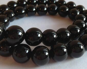 6mm Black Onyx Round Beads