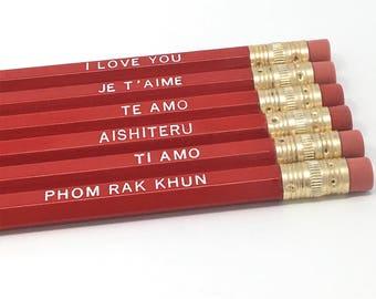 Languages of Love Pencil Set