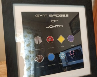 Pokemon Gym Badges - Johto Region
