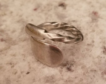 Antique Twisted Metal Spoon Ring