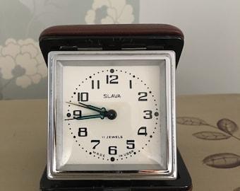Vintage Travel Clock Made in USSR