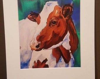 8x10 matte to 11x14 Holstein print