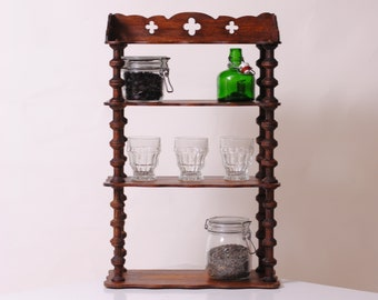 french rustic wooden shelf