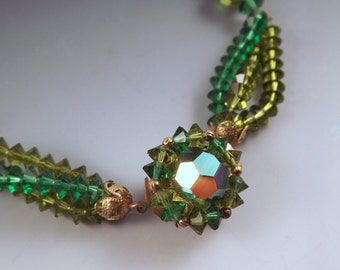 Gorgeous Green Crystal Necklace
