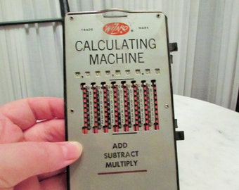 vintage Wizard calculating machine made in Germany