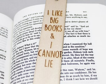 I Like Big Books and I Cannot Lie Funny Bookmark Book Lover Gift Personalised Personalized Custom