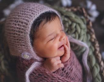 Made to Order. Baby Bonnet. Photo prop bonnet. Handmade baby bonnet.