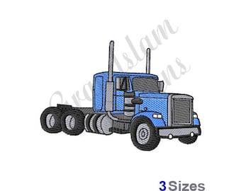 Semi Truck - Machine Embroidery Design
