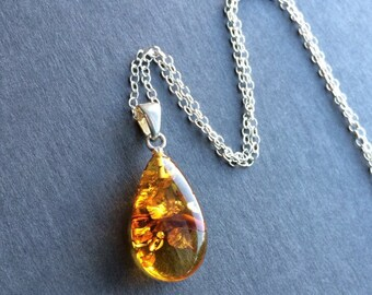 Amber jewelry etsy sale baltic amber pendant necklace natural brown amber sterling silver amber necklace aloadofball Gallery