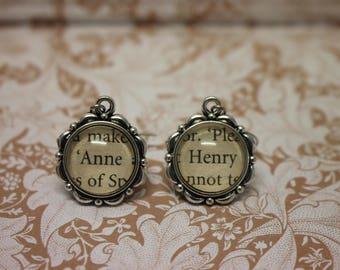 Anne ~ Henry Earrings ~ Henry VIII ~ The Tudors ~ Anne Boleyn ~