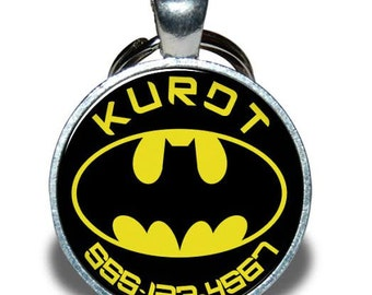 Pet ID Tag - Batman *Inspired* - Dog tag, Cat Tag, Pet Tag