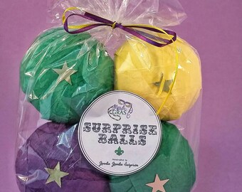 Surprise balls - Madi Gras - Madi Gras party favors - madi gras party - New Orleans