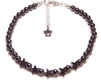 Hämatit Sterling Silber Armband Hematit Sterne Design magnetische