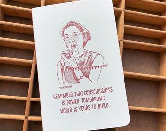 Yuri Kochiyama letterpress journal
