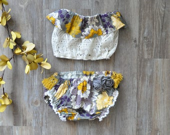 Ava Bloomers & Ruffle Top