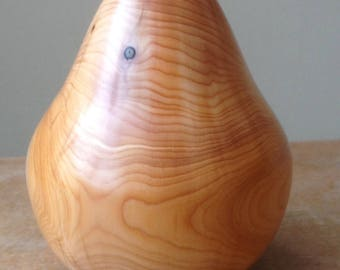 Hand turned wooden pear