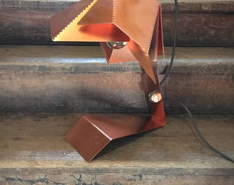 Copper Dotted Table Lamp