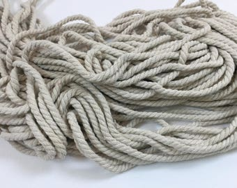 Lot of 30 Yards (5mm thick) Beige Color Cotton Rope, Cord Trim