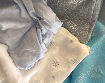 Frozen Let it Go Elsa Costume Fabrics for your Child /Doll /Crafts