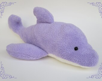 soft handmade plush dolphin