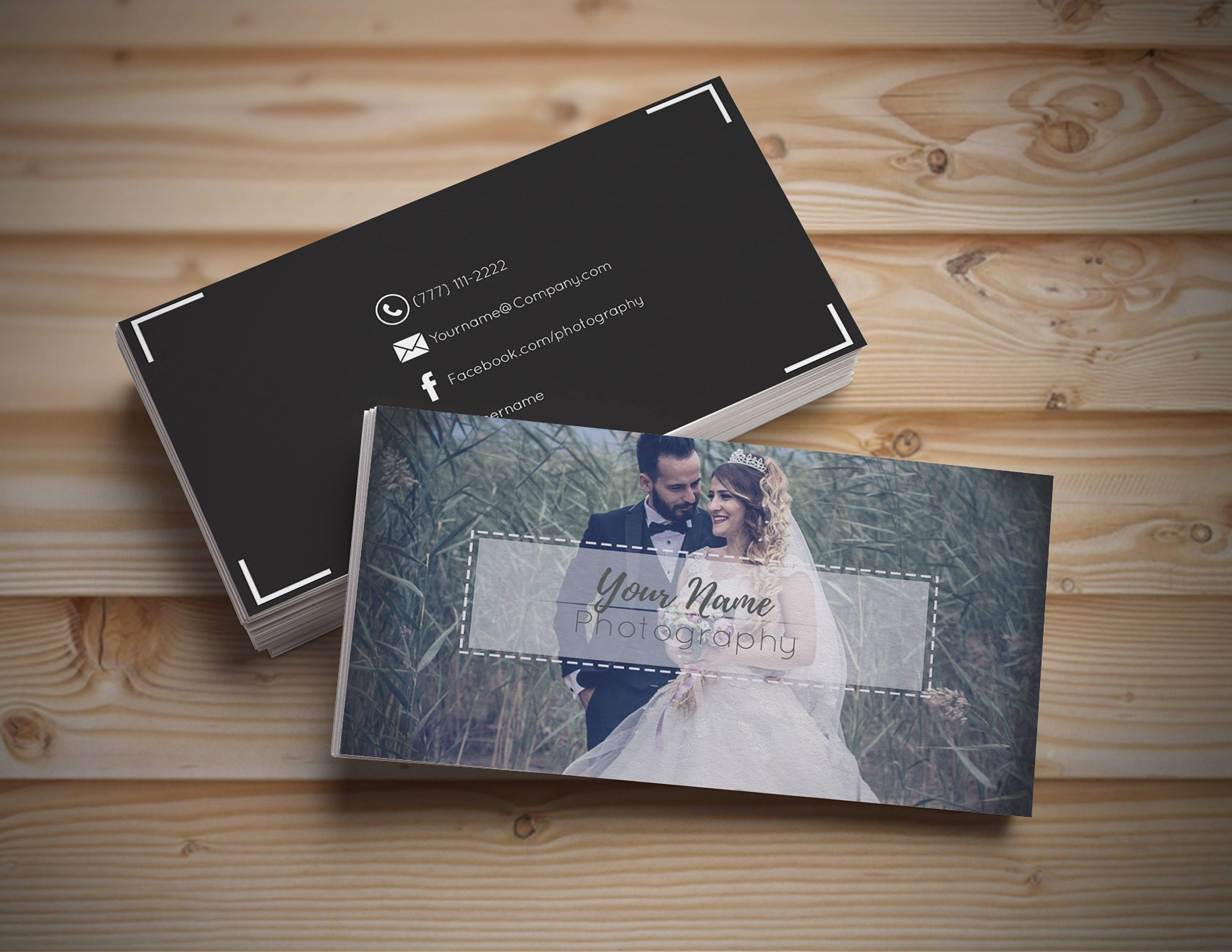 Photography Business Cards / PSD Template for Wedding