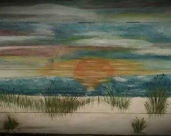Ocean front sunset