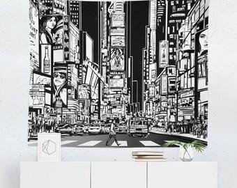 New York City Tapestry | New York City Wall Tapestry | New York City Wall Decor | New York City Gift | New York City Wall Art | NYC