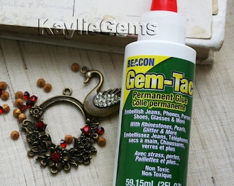 Beacon Gem-Tac Permanent  Embellishment Adhesive Glue 2-Ounce Non-Toxic Made in USA