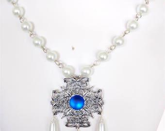 SALE - Renaissance Necklace, Renaissance Jewelry, Medieval Necklace, Tudor Necklace, Medieval Jewelry, SCA, Elizabethan, Faire, Ready 2 Ship