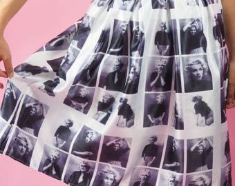 Marilyn Monroe Swing Skirt with hidden Hollywood Star