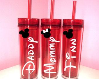 Disney Name Skinny/Bride/Groom/Mom/Dad/Bachelorette Cruise/Family/Wedding/Florida/Mouse Ears/Mickey/Minnie Party/Pool/Summer/Beach/Birthday