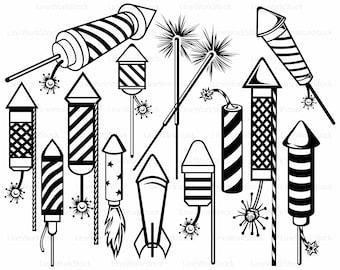 Fireworks svg/rocket clipart/fireworks svg/silhouette/fireworks cricut/fireworks cut files/july 4th clip art/digital download/svg/designs