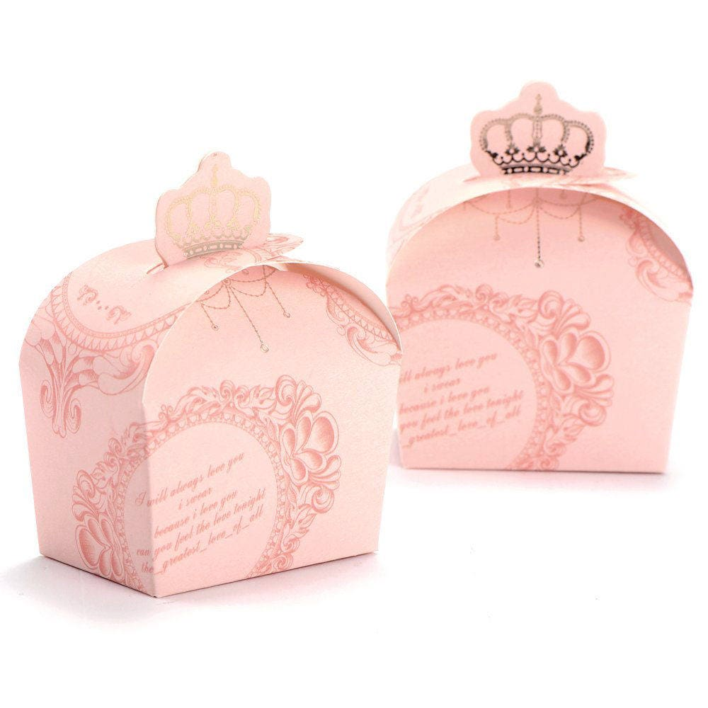 Wedding Guest Favor Boxes Bridal Shower Favor Boxes Royal