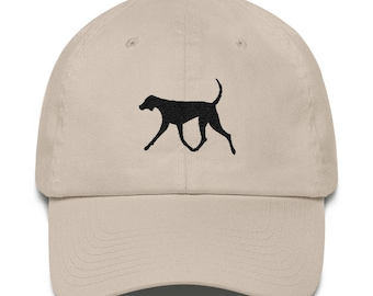 Big Dog , Pointer Dog, Hunting Dog, Foxhound, embroidered on a Cotton Cap