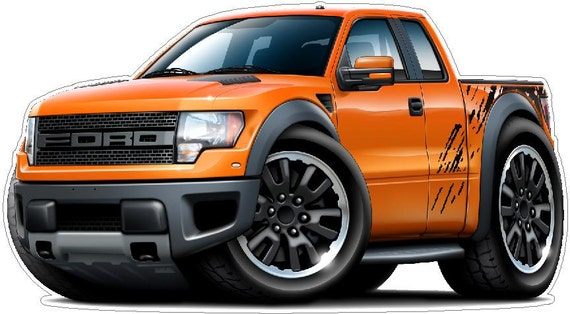 2010 2013 ford raptor truck 4x4 vinyl decal wall graphic like this item voltagebd Images