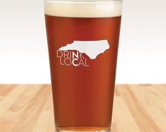 Drink Local NC Pint Glass