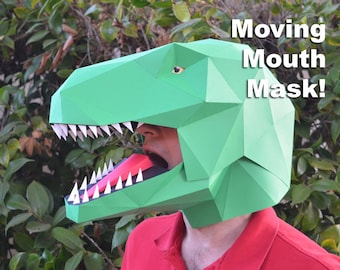 Dinosaur mask make a t rex mask with just paper and glue talking t rex mask build a dinosaur with moving mouth paper mask diy mask halloween mask dinosaur costume silhouette cameo svg solutioingenieria Image collections