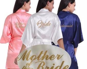 Bride Wedding Party Silk Robe One Size