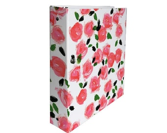 Cute 3 Ring Binder: Roses