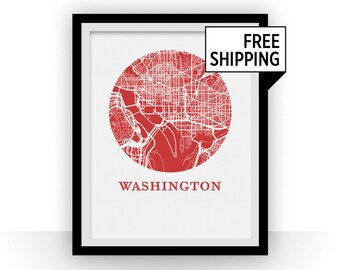 Washington Map Print - City Map Poster