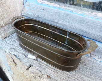 Vintage Antique French 1900 copper planter jardiniere