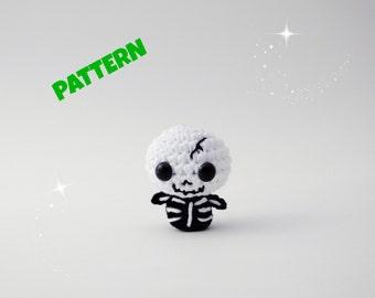 Amigurumi Skeleton Pattern, Crochet Doll Pattern, Amigurumi Doll Pattern, Crochet Toy Pattern, Amigurumi Toy Pattern, Doll Toy Pattern