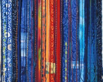 Fiber Art Quilt with Hidden Surprises II