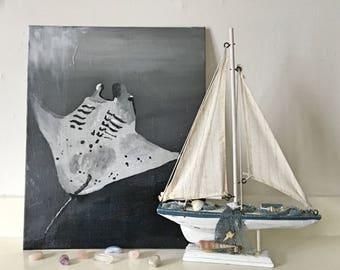stingray - acrylic painting